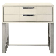 Ben Soleimani Holbrook Nightstand in Leather - Bone