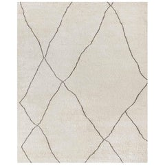 Ben Soleimani Iona Rug– Moroccan Hand-knotted Wool Bisque/Cafe 8'x10'