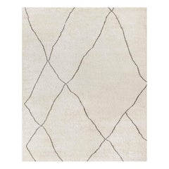 Ben Soleimani Iona Rug– Moroccan Hand-knotted Wool Bisque/Cafe 9'x12'