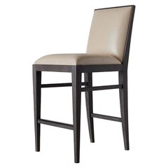 Ben Soleimani Landon Bar Stool in Saddle - Parchment