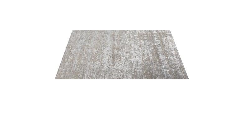 For Sale: Beige (Laria Taupe) Ben Soleimani Laria Rug– Handcrafted Wool + Silk Fog 12'x15' 2