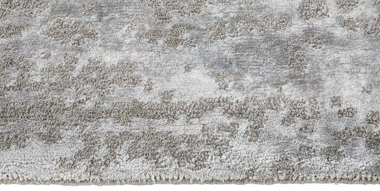 For Sale: Beige (Laria Taupe) Ben Soleimani Laria Rug– Handcrafted Wool + Silk Fog 12'x15' 3
