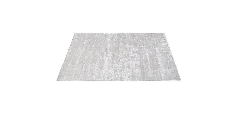 For Sale: Silver (Laria Fog) Ben Soleimani Laria Rug– Handcrafted Wool + Silk Fog 6'x9' 2
