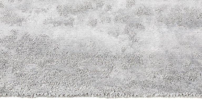 For Sale: Silver (Laria Fog) Ben Soleimani Laria Rug– Handcrafted Wool + Silk Fog 6'x9' 3