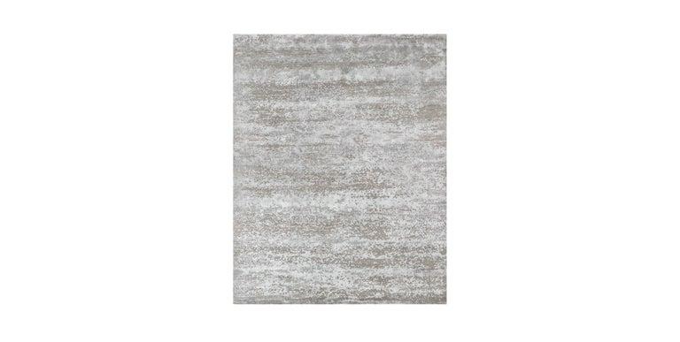 For Sale: Beige (Laria Taupe) Ben Soleimani Laria Rug– Handcrafted Wool + Silk Fog 6'x9'
