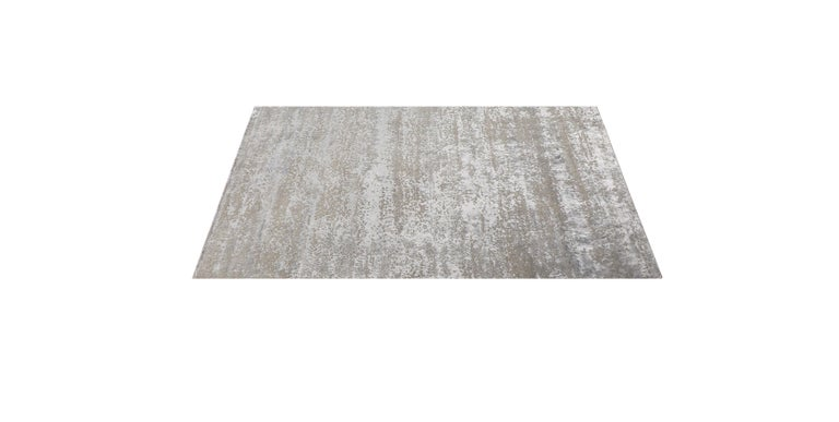 For Sale: Beige (Laria Taupe) Ben Soleimani Laria Rug– Handcrafted Wool + Silk Fog 6'x9' 2