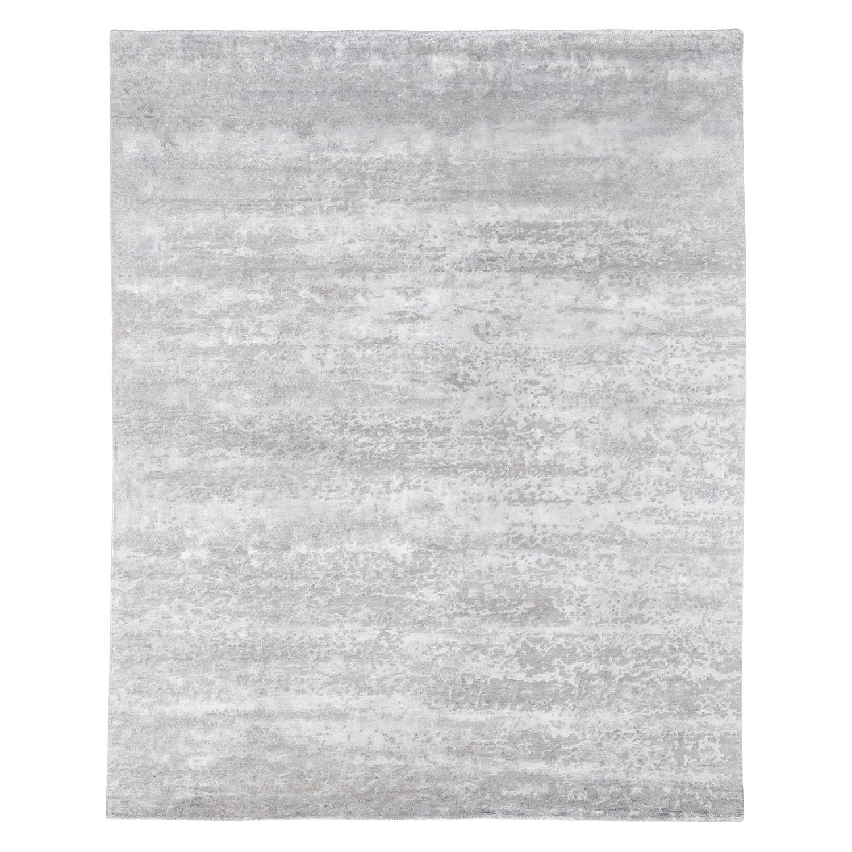 Ben Soleimani Laria Rug– Handcrafted Wool + Silk Fog 8'x10'