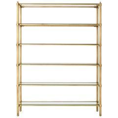 Ben Soleimani Laurel Bookcase - Cast Brass