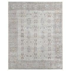 Ben Soleimani Mariposa Rug– Hand-knotted Wool + Silk Blue/Gray 6'x9'