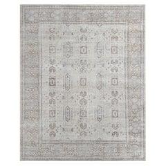 Ben Soleimani Mariposa Rug– Hand-knotted Wool + Silk Blue/Gray 9'x12'