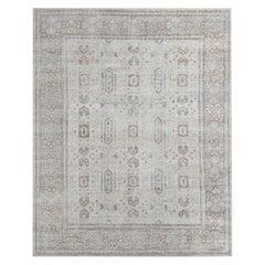 Ben Soleimani Mariposa Rug– Hand-knotted Wool + Silk Blue/Gray 8'x10'