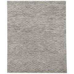 Ben Soleimani Mina Moroccan Rug– Ultra-plush Hand-knotted Zigzag Grey 12'x15'