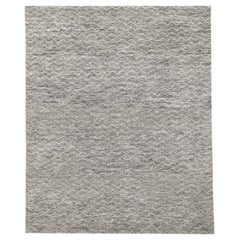 Ben Soleimani Mina Moroccan Rug– Ultra-plush Hand-knotted Zigzag Grey 6'x9'