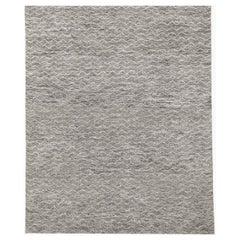 Ben Soleimani Mina Moroccan Rug– Ultra-plush Hand-knotted Zigzag Grey 9'x12'