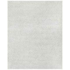 Ben Soleimani Mirada Rug– Moroccan Hand-knotted Plush Silver/Charcoal 8'x10'