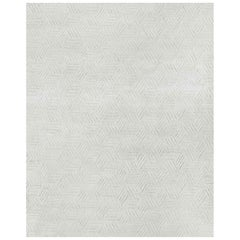 Ben Soleimani Mirada Rug– Moroccan Hand-knotted Plush Silver/Charcoal 9'x12'