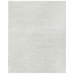 Ben Soleimani Mirada Rug– Moroccan Hand-knotted Plush Silver/Charcoal 6'x9'