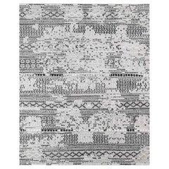 Ben Soleimani Mori Rug– Hand-woven Plush Wool Grey/Black 12'x15'