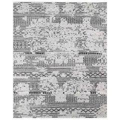 Ben Soleimani Mori Rug– Hand-woven Plush Wool Grey/Black 6'x9'