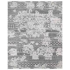 Ben Soleimani Mori Rug– Hand-woven Plush Wool Grey/Black 8'x10'