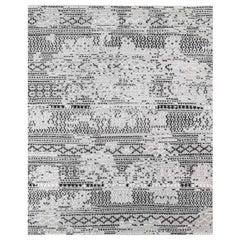 Ben Soleimani Mori Rug– Hand-woven Plush Wool Grey/Black 9'x12'