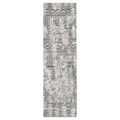 Ben Soleimani Mori Runner Rug– Hand-woven Plush Wool Grey/Black
