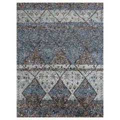 Ben Soleimani Multi-Moroccan Rug– Hand-woven Plush Wool + Viscose Indigo 10'x14'