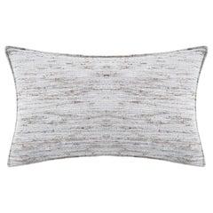 "Ben Soleimani Natural Silk Pillow Cover - Grey 13""x21"""