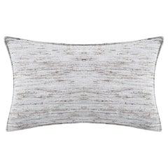 "Ben Soleimani Natural Silk Pillow Cover - Grey 16""x24"""