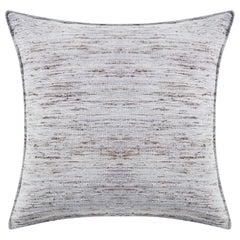 "Ben Soleimani Natural Silk Pillow Cover - Grey 22""x22"""