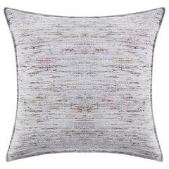 "Ben Soleimani Natural Silk Pillow Cover - Grey 26""x26"""