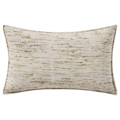"Ben Soleimani Natural Silk Pillow Cover - Silver 13""x21"""