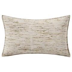 "Ben Soleimani Natural Silk Pillow Cover - Silver 16""x24"""