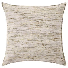 "Ben Soleimani Natural Silk Pillow Cover - Silver 22""x22"""