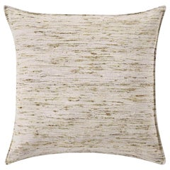 "Ben Soleimani Natural Silk Pillow Cover - Silver 26""x26"""