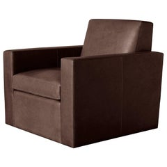 Ben Soleimani Noble Leather Swivel Chair in Refined Saddle - Chocolate