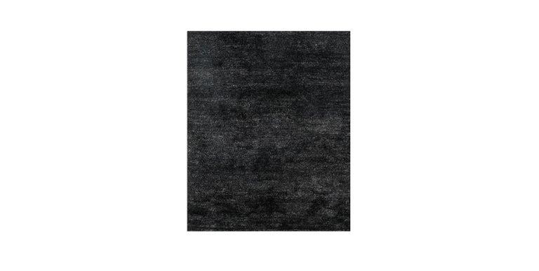 For Sale: Black (Pelu Black) Ben Soleimani Pelu Rug 6'x9'