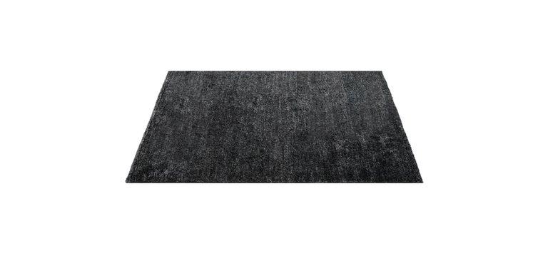 For Sale: Black (Pelu Black) Ben Soleimani Pelu Rug 6'x9' 2