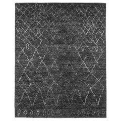 Ben Soleimani Performance Elda Rug– Moroccan Hand-knotted Charcoal 9'x12'