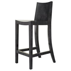 Ben Soleimani Pergamo Bar Stool in Carbon Parchment