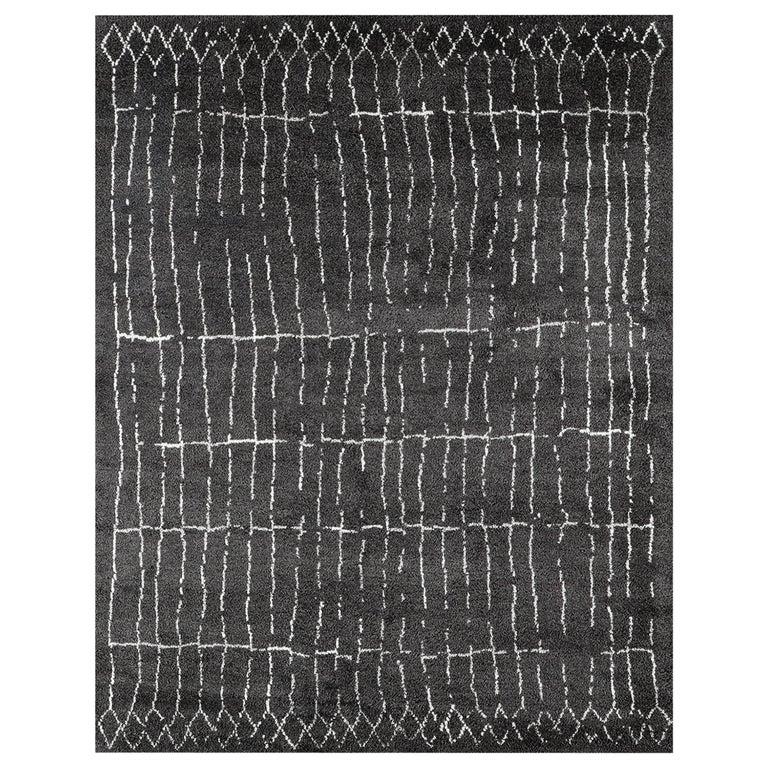 For Sale: Silver (Plaga Graphite/Silver) Ben Soleimani Plaga Rug 9'x12'