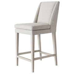 Ben Soleimani Pomona Bar Stool in Performance Herringbone - Burlap