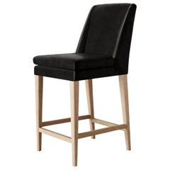 Ben Soleimani Pomona Bar Stool in Saddle - Chocolate