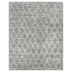 Ben Soleimani Rama Rug– Hand-knotted Plush Viscose Fog 10'x14'