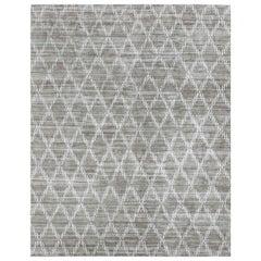 Ben Soleimani Rama Rug– Hand-knotted Plush Viscose Fog 12'x15'