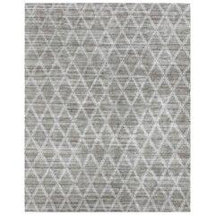 Ben Soleimani Rama Rug– Hand-knotted Plush Viscose Fog 6'x9'
