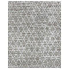 Ben Soleimani Rama Rug– Hand-knotted Plush Viscose Fog 8'x10'