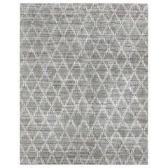 Ben Soleimani Rama Rug– Hand-knotted Plush Viscose Fog 9'x12'