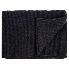 Ben Soleimani Ribbed Cashmere Oversized Throw - Charcoal