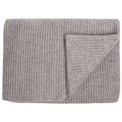Ben Soleimani Ribbed Cashmere Oversized Throw - Grey